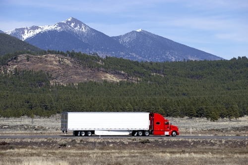Truck drivers pass through some dramatic parts of the U.S.