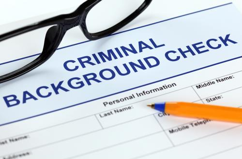Criminal background history sheet.