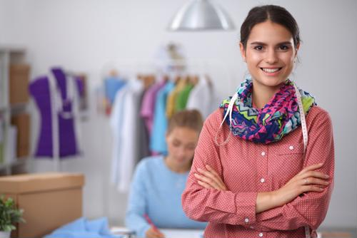 Two female employees at a business