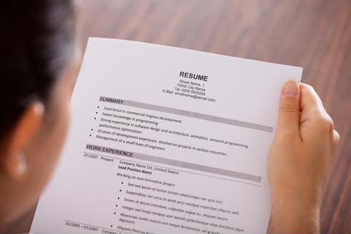 Getting your resume through a screening program