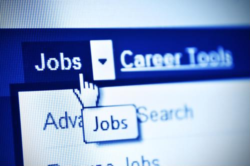 User browses through an online job board